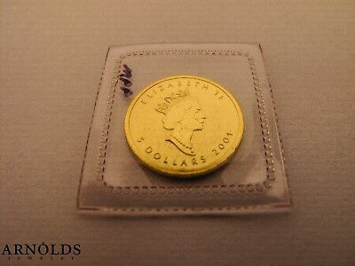2001 $5 1/10 Canada Gold Maple Leaf Coin (Sealed)