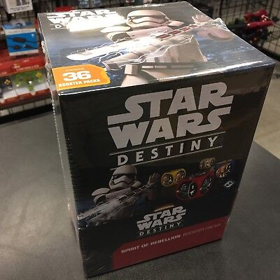 FFG Star Wars Destiny SPIRIT OF REBELLION Booster Box 36 packs FACTORY SEALED