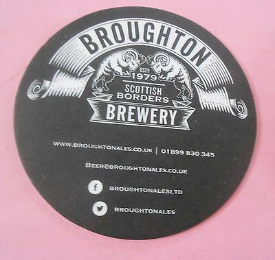 Broughton Ales - in the Scottish Borders New Coaster / Beer Mat From Scotland