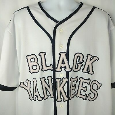 Stitched Replica Negro League Baseball Museum NY White Black Yankees Jersey 2XL