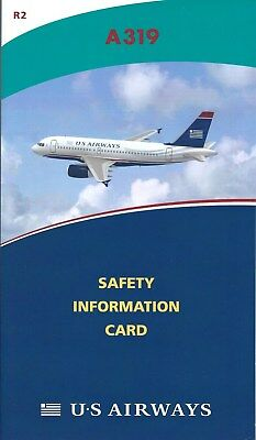 Safety Card - US Airways - A319 - 2010 - Air (S3788)