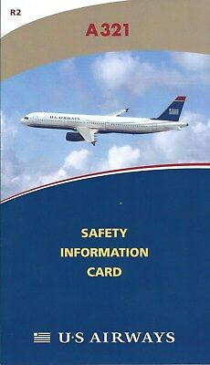 Safety Card - US Airways - A321 - 2010 - Air (S3794)