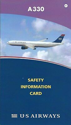 Safety Card - US Airways - A330 - 2008 - Air (S3795)
