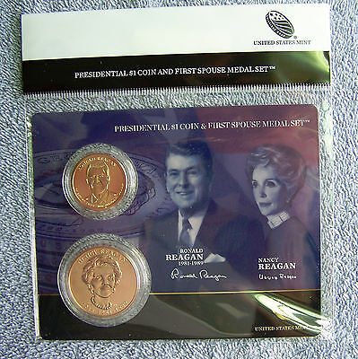 2016 Ronald Reagan Presidential Dollar & First Spouse Medal Set