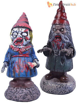 Zombie Gnome Prop Halloween Garden Outdoor Party Decoration Funny Scary Horror