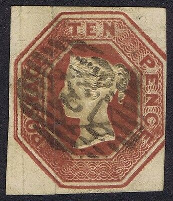 1848 10d Brown SG 57 Fine Used Three Good Margins Cat. £1500.00