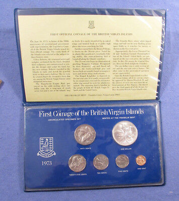 1973 First Coinage Of The British Virgin Islands 6 Coin Set With .925 Silver $1