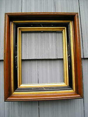 Antique Aesthetic Eastlake Victorian Ebony Carved~Gold Liners~Picture Frame~8~10