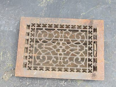 Vntg Ornate-Victorian-Cast-Iron-Register-Heat Vent Tuttle &Bailey