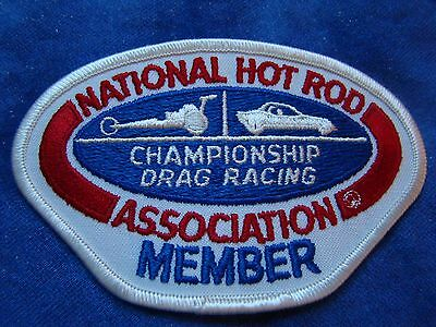 NHRA Member Embroidered Sew-On Patch Vintage from 1970's