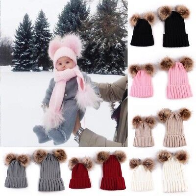 Cute Toddler Girl&Boy Baby Infant Winter Warm Crochet Knit Kids Hat Beanie Cap