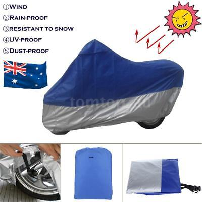 XL Motorcycle Cover Waterproof Motor Bike Scooter UV Dust Rain Cover Outdoor AU