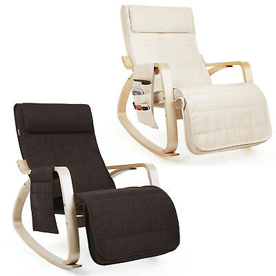 Armchair Rocking Chair Relaxing Chair Lounge Chair Recliner with Side Pocket