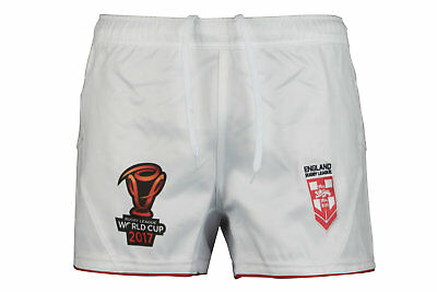 BLK England Rugby League 2017 World Cup Players Shorts Bottoms Training Sports