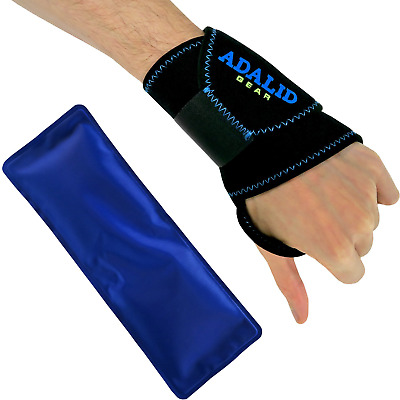 Wrist Support Brace with Gel Ice Pack for Hot and Cold Therapy Adjustable Wrap