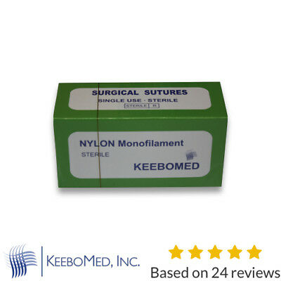 Veterinary Nylon Monofilament 4/0 pack of 12 | KeeboMed