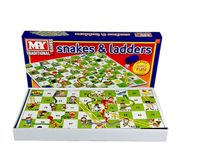Snakes and Ladders Traditional Childrens Board Game Family Fun New Kids Toy TY57