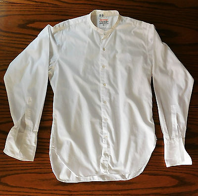 Vintage tunic day shirt collar size 15.5 Simpsons Piccadilly c 1950s all cotton