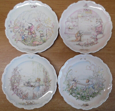 Set of 4 Royal Doulton Wind in The Willows Plates by Christina Thwaites