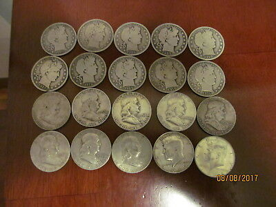 Silver Half Dollars Mixed Lot Full Roll 90% Silver Free Shipping