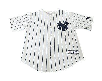 Majestic Genuine Merchandise Big Kids Youth Size Boys Girls Jersey Yankees White