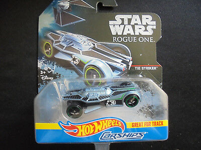 Hot Wheels Star Wars Rogue One Die Cast Carships Tie Striker Collectible Toy