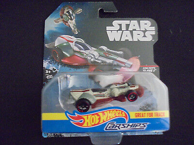 Hot Wheels Star Wars Die Cast Carships Boba Fett's Slave I Great For The Track
