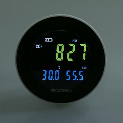 LCD Carbon Dioxide Monitor CO2 Data Logger Air Temperature Humidity USB Meter