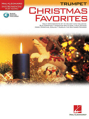 Christmas Favorites Trumpet Solo Sheet Music Songs Play-Along Book Online Audio