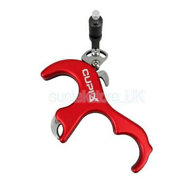4 Finger Caliper Trigger Release Aid for Compound Bow Hunting Shooting Red