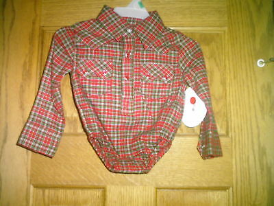 All Around Baby By Wrangler 3-6 Month Long Sleeves Snaps Free Shipping