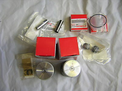 Yamaha TZ250 03-10 Piston Kit Complete with AO Size pistons.Genuine Yamaha. New