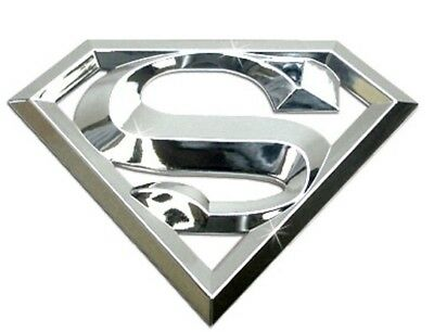 New 【Superman】 Emblem 3D High Quality Chrome Medal Logo Heavy Equipment CAT MORE