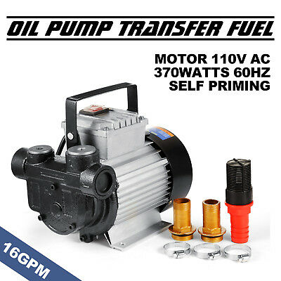 16GPM Oil Diesel Fuel Transfer Pump Self Priming Fitler Portable Cast Iron