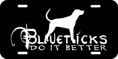 BLUETICK HOUND LICENSE PLATE& FREE DECAL,Coon Hunting Decal,Hound Dog Decal,BTLP