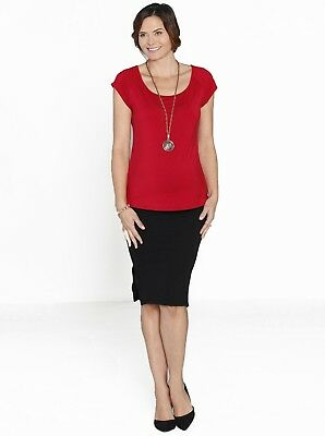 Lady in Red -  Maternity Top & Skirt Work Outfit