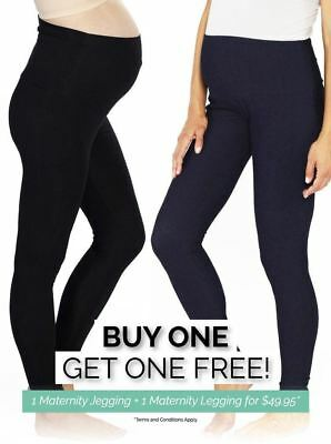 Maternity Denim Jegging & Black Legging COMBO - Best Sellers