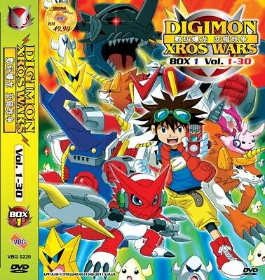 DIGIMON Xros Wars Paket | TV S1+S2+S3 | Episodes 01-79 | 10 DVDs in 3 Sets-LU