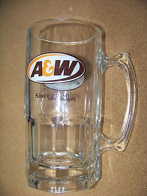 LARGE A & W Since & Depuis 1956 glass handled cup mug tankard A&W root beer