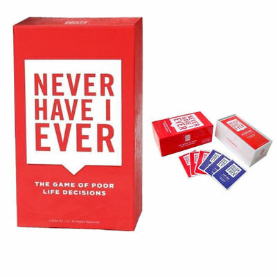 【Never Have I Ever】The Game Of Poor Life Decisions Sealed Party Play Board Game