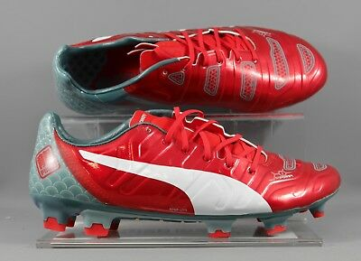 Puma (103423-01) Evopower 1.2 Graphic FG adults football boots - Red/Green