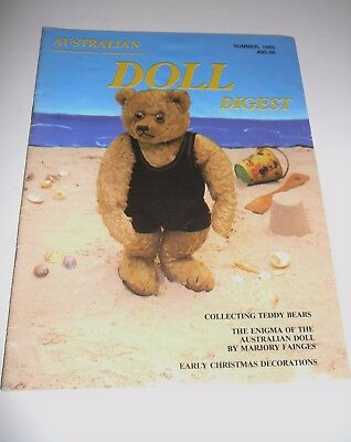 Australian Doll Digest Summer 1985 Doll Dealing Collecting Teddy Bears