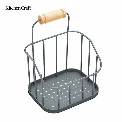 Kitchen Craft Living Nostalgia Wire Sink Tidy in Grey LNSINK