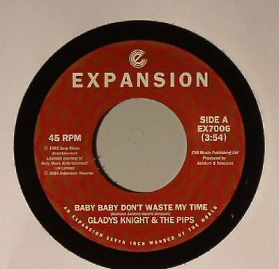 """KNIGHT, Gladys & THE PIPS - Baby Baby Don't Waste My Time - Vinyl (7"""")"""