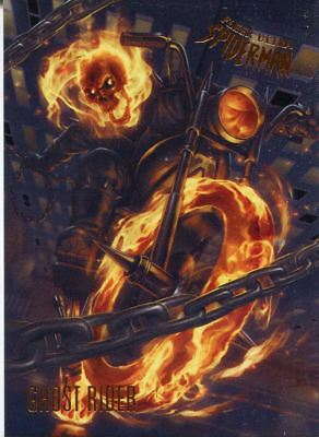 Spiderman Fleer Ultra 2017 Base Card #98 Ghost Rider