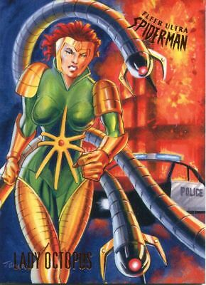 Spiderman Fleer Ultra 2017 Base Card #30 Lady Octopus
