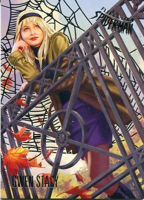 Spiderman Fleer Ultra 2017 Silver Parallel Base Card #23 Gwen Stacy