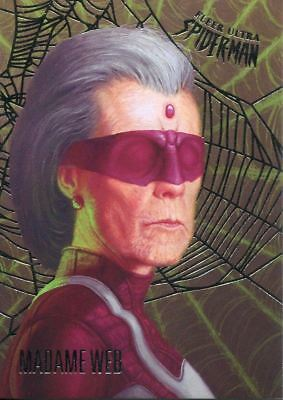 Spiderman Fleer Ultra 2017 Silver Parallel Base Card #56 Madame Web