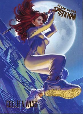 Spiderman Fleer Ultra 2017 Base Card #72 Colleen Wing