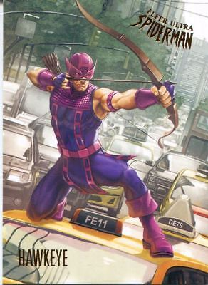 Spiderman Fleer Ultra 2017 Base Card #86 Hawkeye